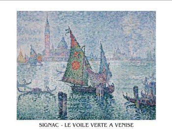 Obrazová reprodukce Zelená plachta, Benátky, 1902
