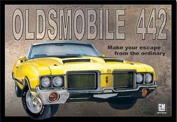 OLDSMOBILE 442 Metalplanche