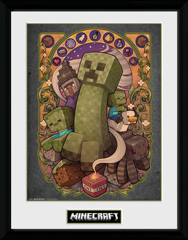 Minecraft - Creeper Nouveau oprawiony plakat