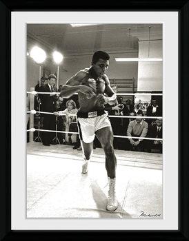 Muhammad Ali - Spar oprawiony plakat