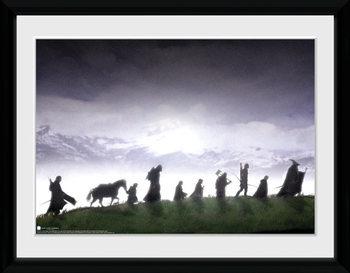 Władca Pierścieni - Fellowship oprawiony plakat