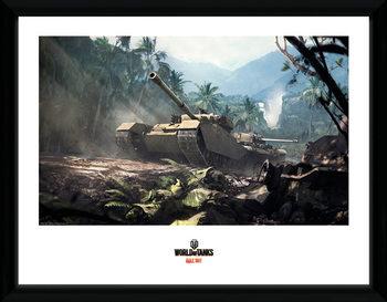 World of Tanks - Forest Tanks oprawiony plakat