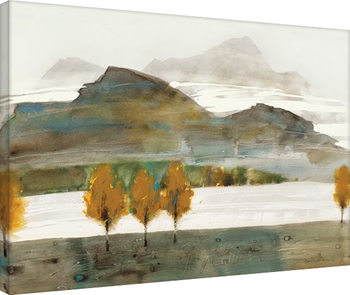 Law Wai Hin - Autumn Trees II På lærred