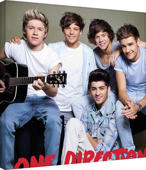 One Direction - guitar På lærred