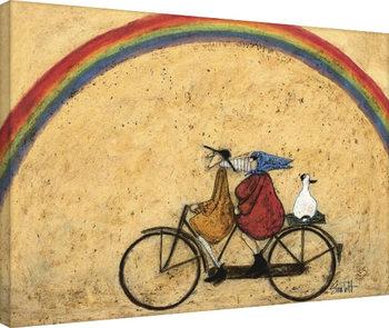 Sam Toft - Somewhere Under a Rainbow På lærred