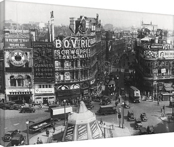 Time Life - Piccadilly Circus, London 1942 På lærred