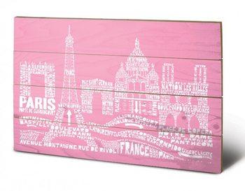 Poster su legno Parigi - Citography
