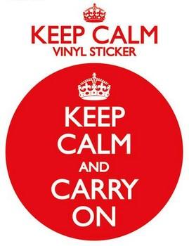 KEEP CALM AND CARRY ON - pegatina