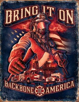 Fire Fighters - Bring It Placă metalică