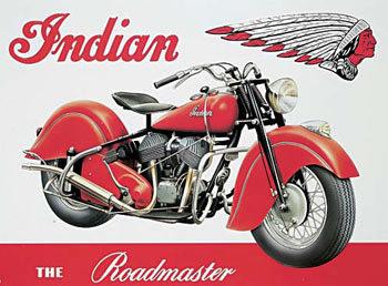 INDIAN ROADMASTER Placă metalică