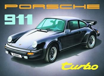 PORSCHE 911 Placă metalică