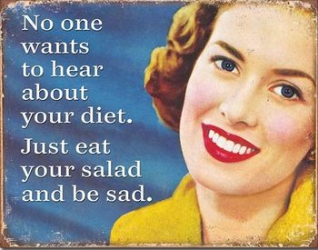 Your Diet Placă metalică