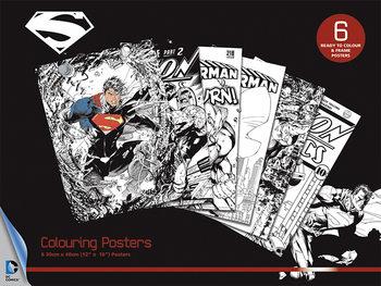 Plagát omaľovánka DC Comics - Superman