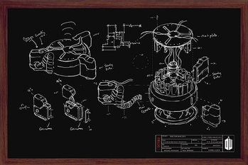 Plagát Doctor Who - Chalk Board
