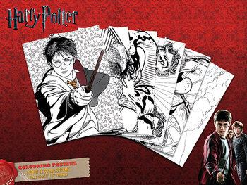 Plagát omaľovánka Harry Potter - Hogwarts