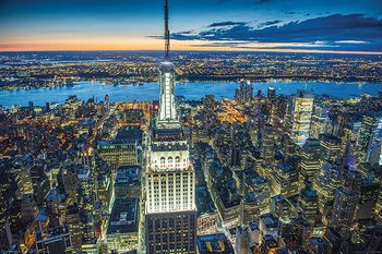 Plagát Jason Hawkes - Empire State Building at Night