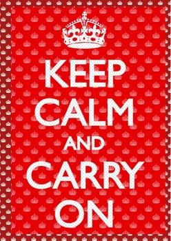 3D Plagát Keep calm and carry on