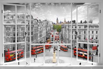 Plagát Londýn - window