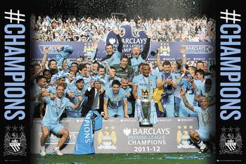 Plagát Manchester City - premiership winners 11/12