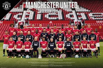 Plagát Manchester United - Team Photo 17-18