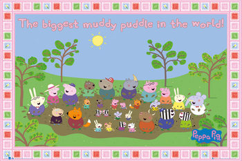 Plagát PEPPA PIG - muddy puddle