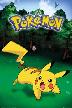 Plagát Pokemon - Pikachu Catch