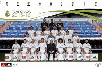 Plagát Real Madrid 2015/2016 - Plantilla