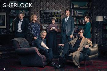 Plagát Sherlock - Cast