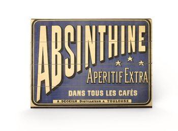 Absinthe Aperitif plakát fatáblán