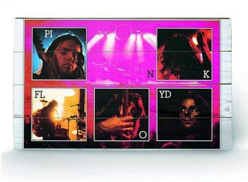 PINK FLOYD - live plakát fatáblán