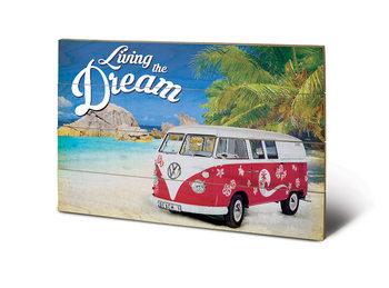 VW - Living the Dream plakát fatáblán