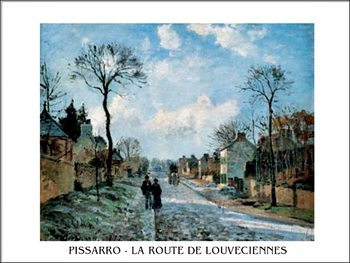 A Road in Louveciennes Kunsttryk