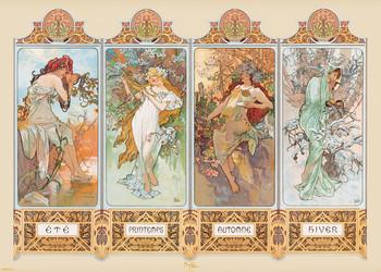 Alfons Mucha - four seasons Plakat
