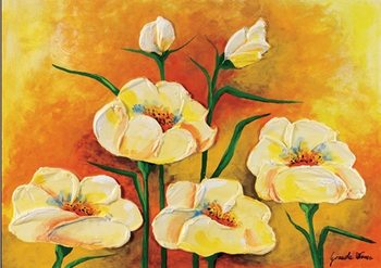 Anemones in Bloom Kunsttryk