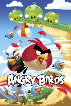 Angry birds - attack  Plakat