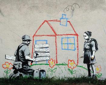 Banksy Street Art - Playhouse Plakat