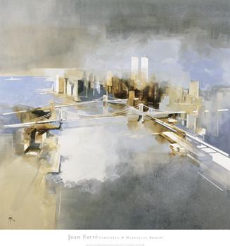 Brooklyn and Manhattan Bridges Kunsttryk