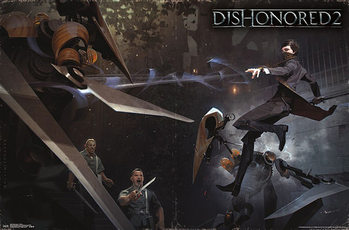 Dishonored 2 - Battle Plakat