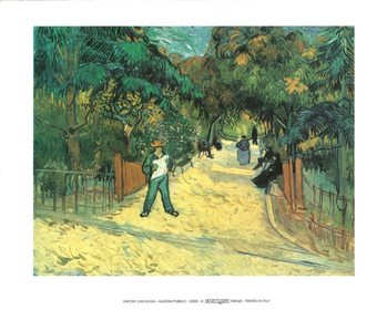 Entrance to the Public Garden in Arles, 1888 Kunsttryk
