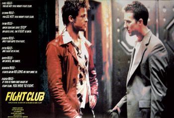 FIGHT CLUB - rules  Plakat