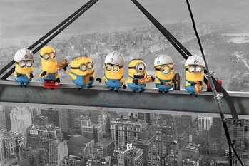 Grusomme meg (Despicable Me) - Minions Lunch on a Skyscraper Plakat Plakater
