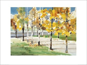 Law Wai Hin - Autumn Trees Kunsttryk