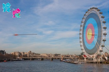 London 2012 olympics - on target  Plakat