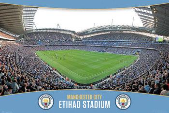 Manchester City - Etihad Stadium Plakat
