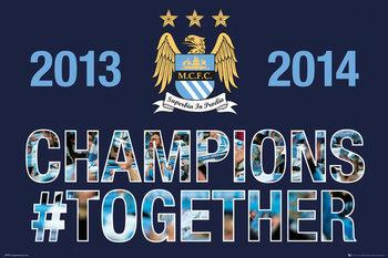 Manchester City FC - Premiership Plakat