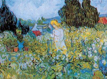Marguerite Gachet in the Garden, 1890 Kunsttryk