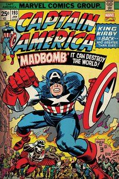 Marvel Retro - Captain America - Madbomb Plakat