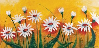 Meadow of daisies Kunsttryk
