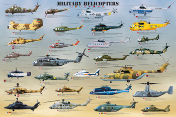 Military helicopters Plakat