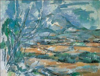Mont Sainte-Victoire Kunsttryk